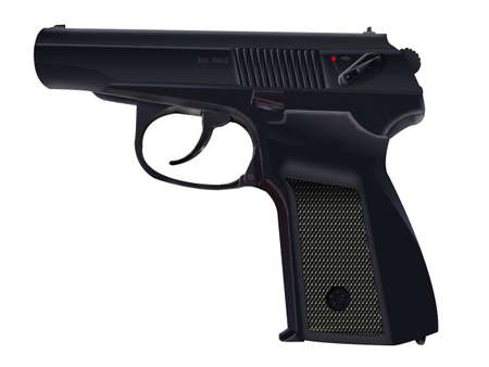 9 mm pistol PM on a white background Stock Photo - 782601
