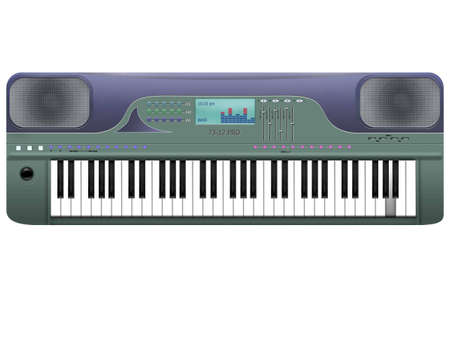 synthesizer: The musical tool synthesizer on a white background Stock Photo