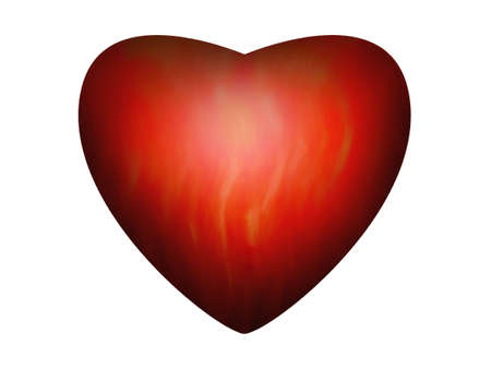 Heart red - fire inside on a card Stock Photo - 810360