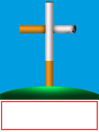 harm: Frame - prevention of harm of smoking as a tomb and cross