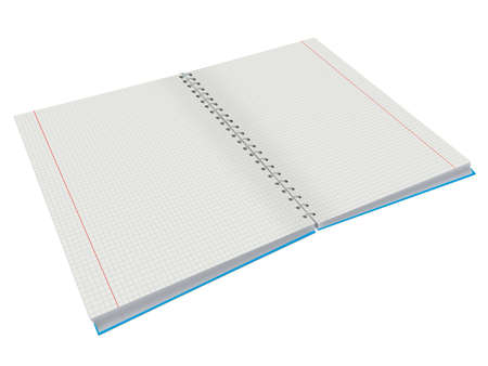 copy-book For study and diary on a white background photo