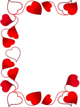 Frame for a photo as red hearts Stock Photo - 880614