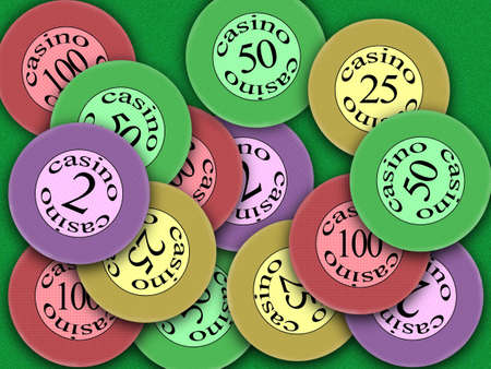 Chesspiece for game in a casino on money Stock Photo - 894459