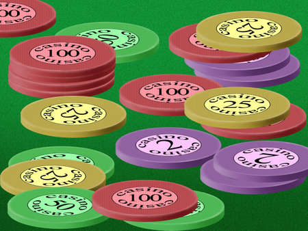 Chesspiece for game in a casino on money Stock Photo - 894460