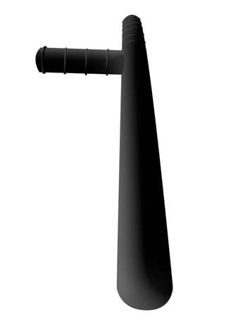 long term: Police bat on a white background in the long term