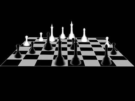 long term: Chess es un negro pizarra con cifras en el largo plazo