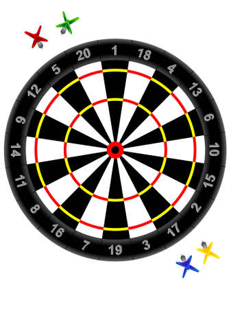 Darts and target for game - a vector