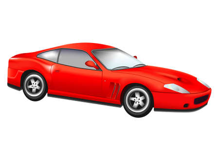 prestige: The sports red car on a white background - a vector
