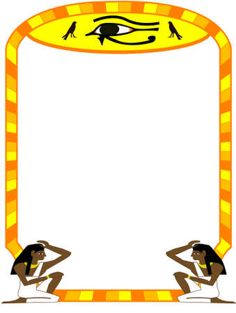 ancient civilization: Frame in the Egyptian style - a vector