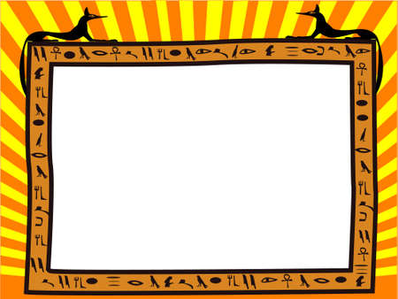 ancient civilization: Frame in the Egyptian style - a vecto