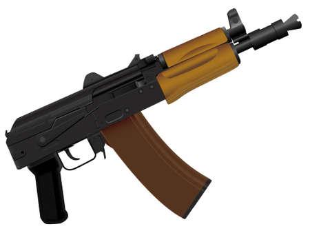 kalashnikov: The weapon the automatic device kalashnikov assault - a vector