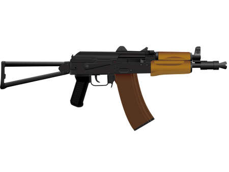 collapsible: The weapon the automatic device kalashnikov assault - a vector