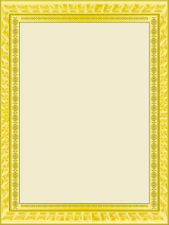 Gold frame for a photo in a vector Vector