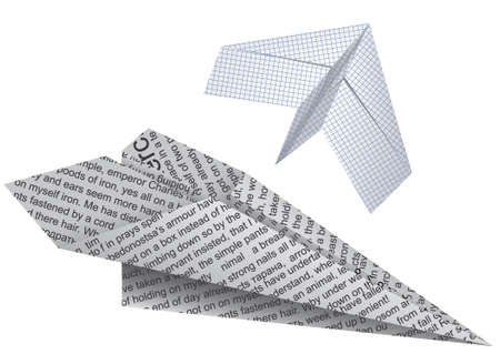 Toy paper planes for games in a vector