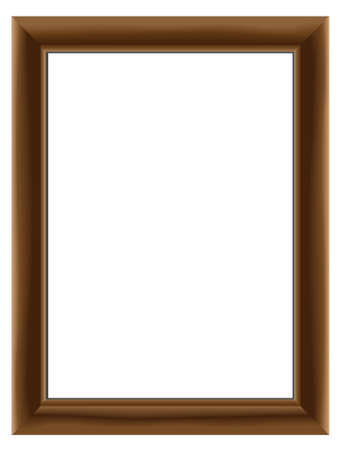 Wooden framework for a  photo in a vector