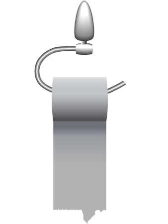 tenedores: Antecedentes - un rollo de papel higi�nico en un titular en un vector Vectores