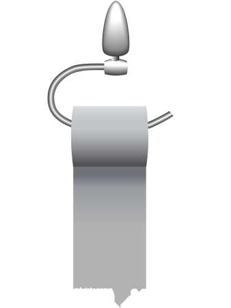 toilet roll: Background - a roll of a toilet paper on the holder in a vector