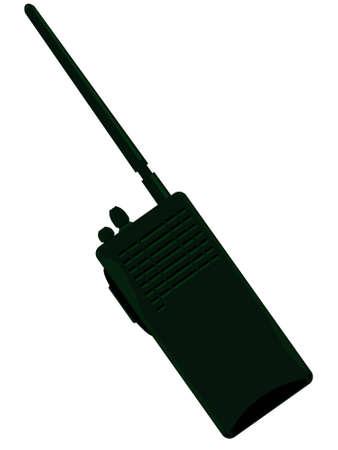 portable radio: Polic�a de radio port�til en un vector