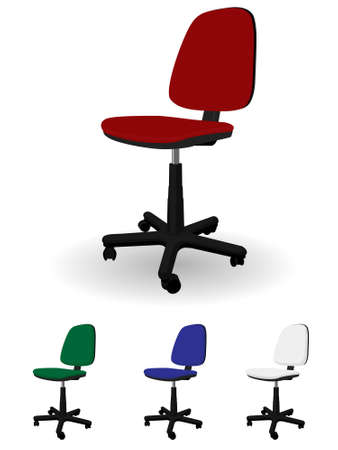 rotating: Office rotating armchair in a vector Illustration