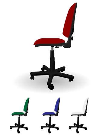 leather chair: Ufficio poltrona girevole in un vettore Vettoriali