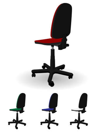 Office rotating armchair in a vector Stock Vector - 3176953