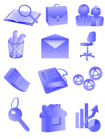 Set of an icon, buttons - office and business in a vector Vector