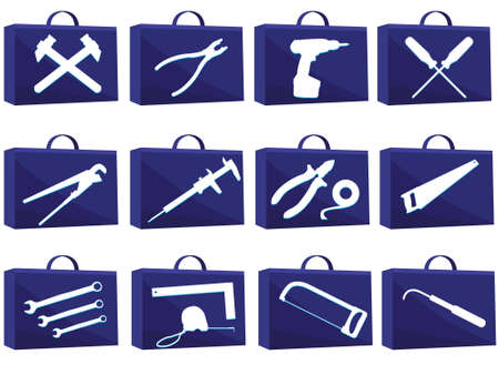 soldering: Set icon for web with tools in a vector