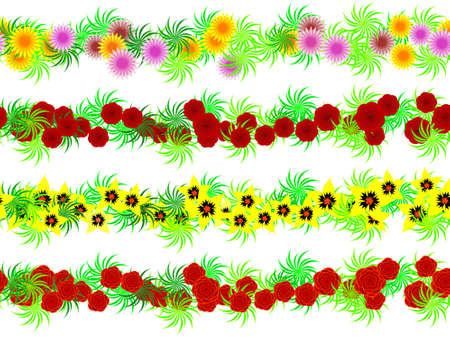 Seamless garlands of colors in a vector Vector