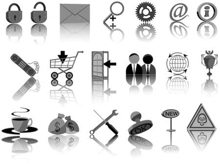 Set of icons for web design in a vector Vector