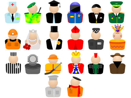 Icons for web design - a trade and employment in a vector on a white background Illustration