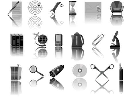archive site: Icons for web the designer in a vector Illustration