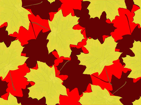 Seamless pattern - autumn falling maple leaves in a vector Stock Vector - 3769664