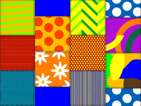 matter: seamples pattern from multi-oloured rags of a matter in a vector