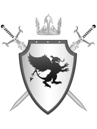 Royal knightly armour with the arms a griffin Stock Vector - 6598005