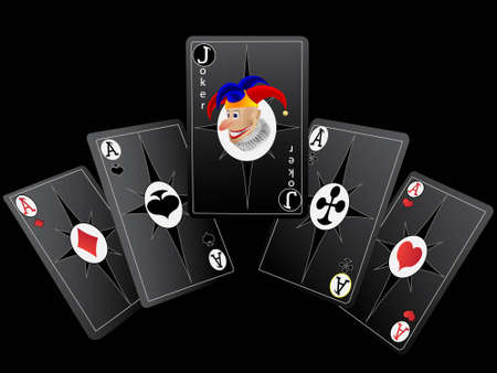 Playing cards for poker with a fine combination Vector