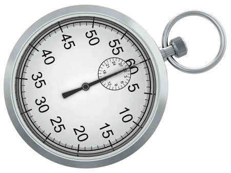 standard steel: Sports stop watch for measurement of time isolated on a white background