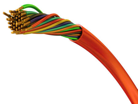 Copper wires in a plastic environment for connection  Stock Photo - 7337890