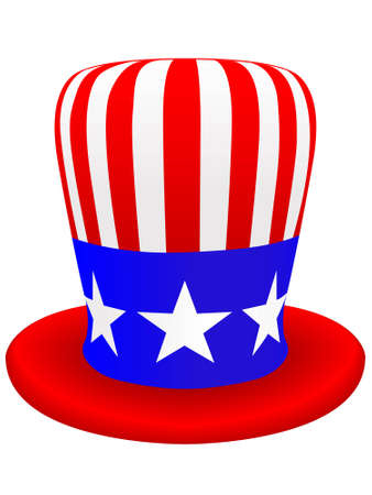 Symbol of the United States of America a hat of the uncle sam