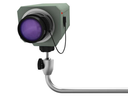 supervision: Pendant videocamera of supervision with an objective on aluminium an arm