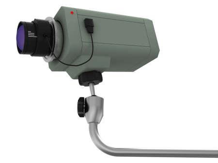 supervisi�n: Videoc�mara colgante de supervisi�n con un objetivo en un brazo de aluminio