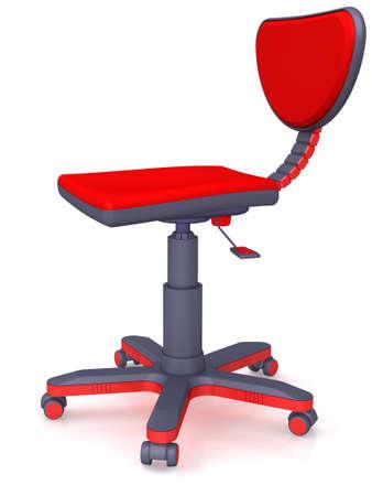 castors: Plastic modern office chair on castors