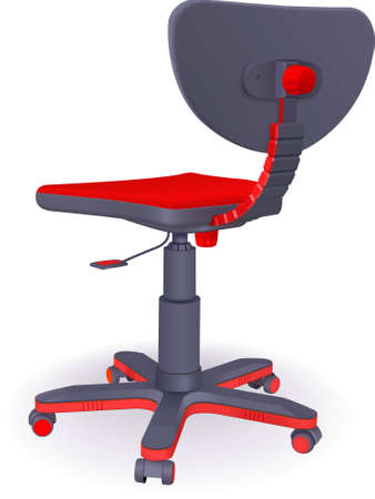 regulated: Plastic modern office chair on castors