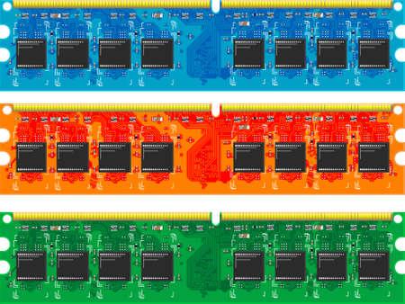 Der Chip des Computerspeichers