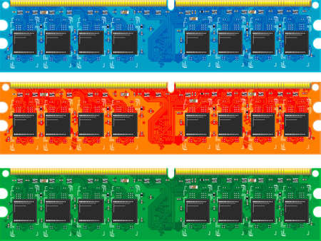 computer memory: The chip of computer memory