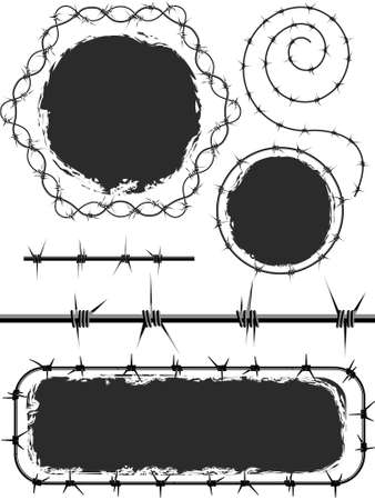 prickles: Background and elements of design with a barbed wire