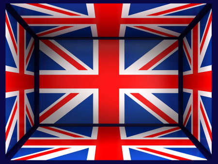 Background in and a flag Great Britain in 3d photo
