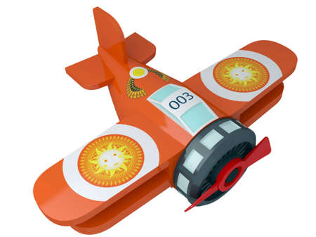 Model of the toy plane isolated on a white background Stock Photo - 9484254