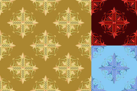 seamless a pattern for a background with a Gothic cross Stock Vector - 9596653