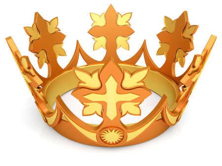 Royal crown from gold a symbol of authority photo