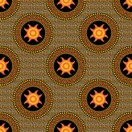 seamless a pattern for a background style Aztecs Stock Vector - 9631443